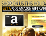 Avatar Don't miss out this holiday, get a $500 Amazon gift card! Sign-up today!